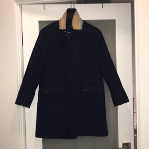 Navy Topshop wool coat